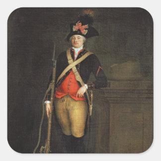 Porträtt av Louis-Philippe-Joseph d'Orleans Fyrkantigt Klistermärke