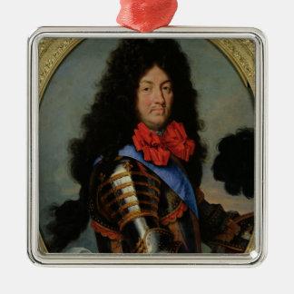 Porträtt av Louis XIV Julgransprydnad Metall