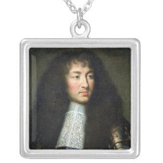 Porträtt av Louis XIV Silverpläterat Halsband