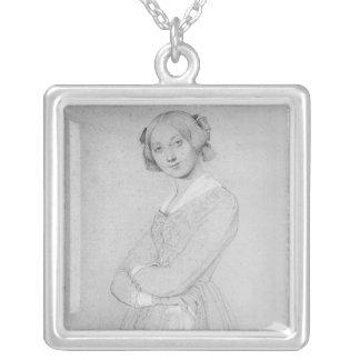 Porträtt av Louise d'Haussonville, 1842 Silverpläterat Halsband