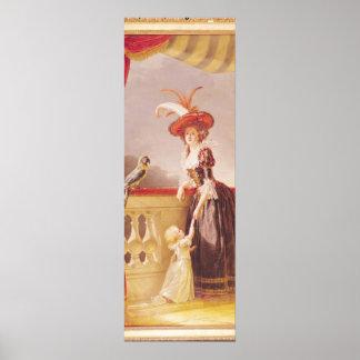 Porträtt av Louise-Elisabet de Frankrike och henne Poster