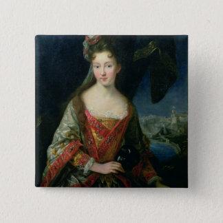 Porträtt av Louise-Hippolyte (1687-1731), Princess Standard Kanpp Fyrkantig 5.1 Cm