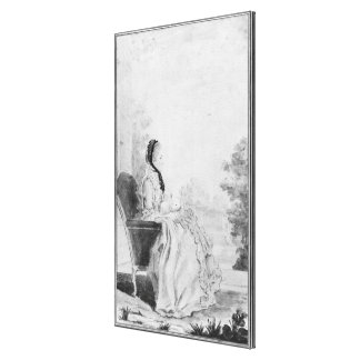 Porträtt av Madam du Deffand, 1760 Canvastryck