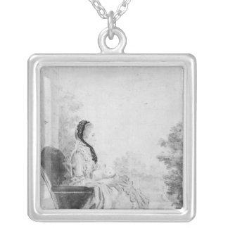 Porträtt av Madam du Deffand, 1760 Silverpläterat Halsband