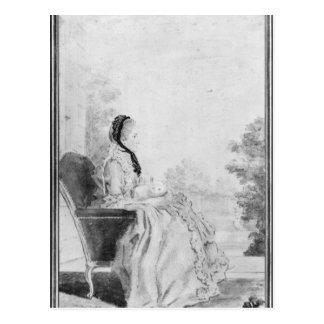 Porträtt av Madam du Deffand, 1760 Vykort