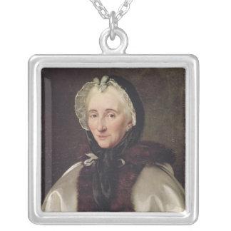 Porträtt av Madam Francoise de Graffigny Silverpläterat Halsband