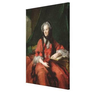 Porträtt av madamen Maria Leszczynska 1748 Canvastryck