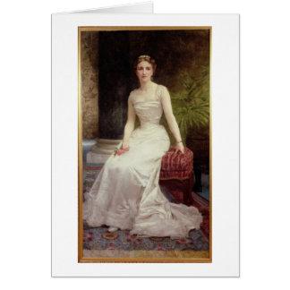 Porträtt av madamen Olry-Roederer, 1900 (olja kan Hälsningskort