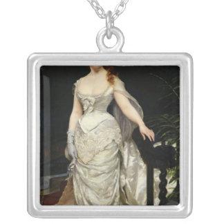 Porträtt av mademoisellen X, 1873 Silverpläterat Halsband
