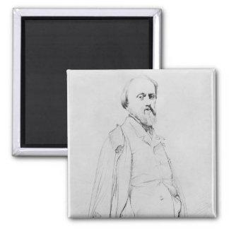 Porträtt av målare Hippolyte Flandrin Magnet