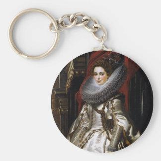 Porträtt av Marchesa Brigida Spinola Doria Rund Nyckelring