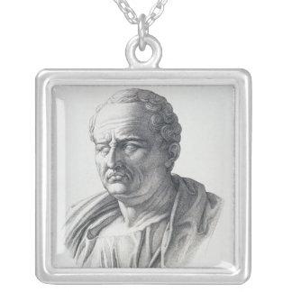 Porträtt av Marcus Tullius Cicero Silverpläterat Halsband