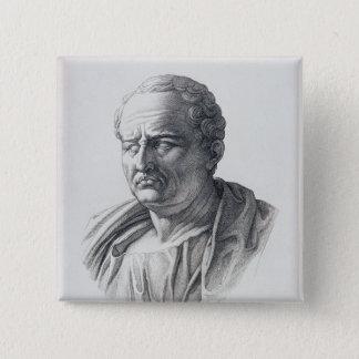 Porträtt av Marcus Tullius Cicero Standard Kanpp Fyrkantig 5.1 Cm