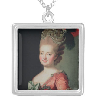 Porträtt av Maria Fyodorovna Silverpläterat Halsband