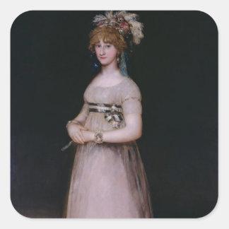 Porträtt av Maria Theresa de Bourbon y Vallabriga, Fyrkantigt Klistermärke