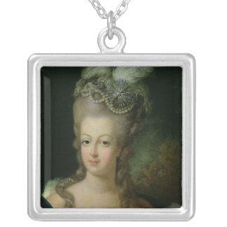 Porträtt av Marie-Antoinette Silverpläterat Halsband