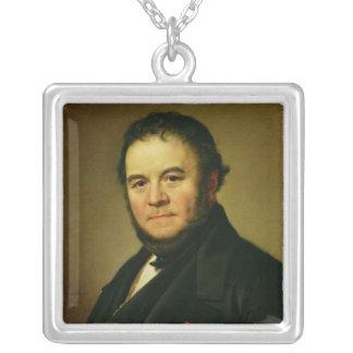 Porträtt av Marie Henri Beyle som är bekant som Silverpläterat Halsband