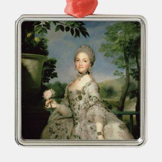 Porträtt av Marie-Louise av Bourbon Julgransprydnad Metall