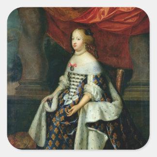 Porträtt av Marie-Therese av Österrike Fyrkantigt Klistermärke