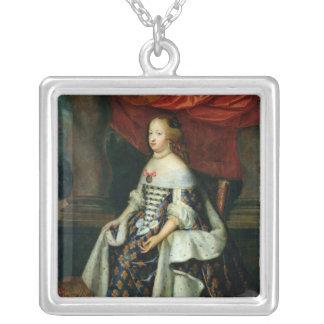 Porträtt av Marie-Therese av Österrike Silverpläterat Halsband