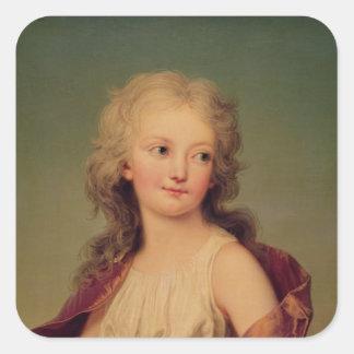 Porträtt av Marie-Therese Charlotte av frankriken Fyrkantigt Klistermärke