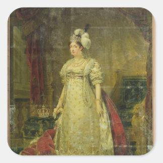 Porträtt av Marie-Therese-Charlotte de Frankrike Fyrkantigt Klistermärke