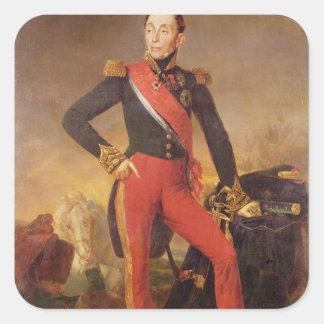 Porträtt av Markis Emmanuel de Grouchy Fyrkantigt Klistermärke