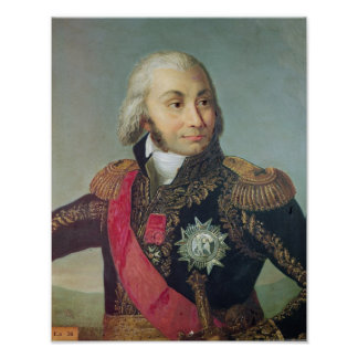 Porträtt av marskalken Jean-Baptiste Jourdan Poster