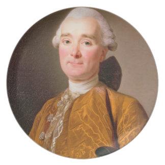 Porträtt av Martin-Pierre Foache (olja på kanfas) Fest Tallrikar