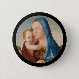 Porträtt av Mary den hållande babyen Jesus Standard Knapp Rund 5.7 Cm
