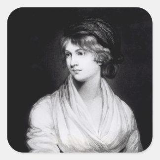Porträtt av Mary Wollstonecraft Godwin Fyrkantigt Klistermärke