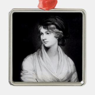 Porträtt av Mary Wollstonecraft Godwin Julgransprydnad Metall
