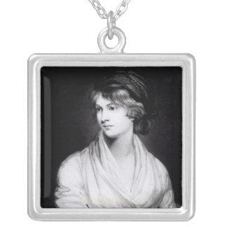 Porträtt av Mary Wollstonecraft Godwin Silverpläterat Halsband