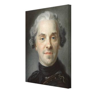 Porträtt av Maurice, Comte de Saxe 1747 Canvastryck