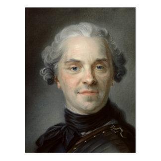 Porträtt av Maurice, Comte de Saxe 1747 Vykort