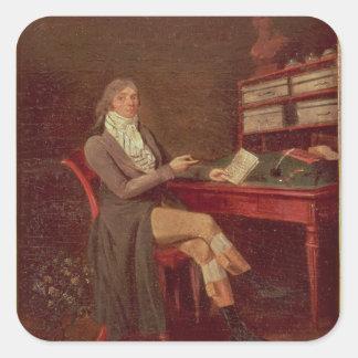 Porträtt av Maurice de Talleyrand Fyrkantigt Klistermärke