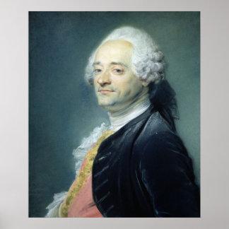 Porträtt av Maurice Quentin de la Turnera, 1750 Poster