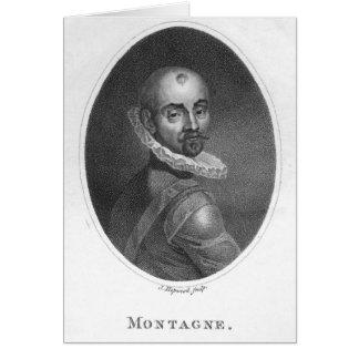 Porträtt av Michel de Montaigne Hälsningskort