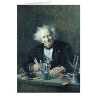 Porträtt av Michel-Eugene Chevreul 1888 Hälsningskort