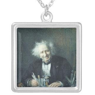 Porträtt av Michel-Eugene Chevreul 1888 Silverpläterat Halsband