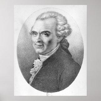 Porträtt av Michel-Jean Sedaine Poster
