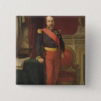 Porträtt av Napoleon III 1862 Standard Kanpp Fyrkantig 5.1 Cm