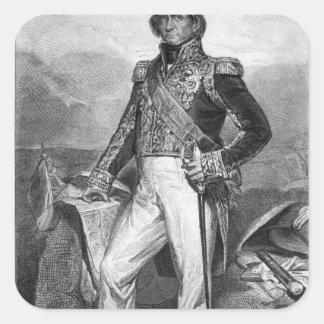 Porträtt av Nicolas Jean-de-Dieu Fyrkantigt Klistermärke