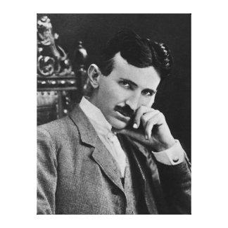 Porträtt av Nikola Tesla Canvastryck