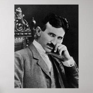 Porträtt av Nikola Tesla Poster