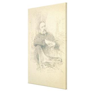Porträtt av Nikolaj Leskov, 1889 Canvastryck