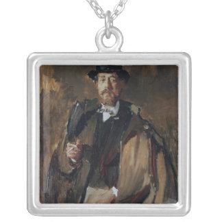 Porträtt av palen Szinyei Merse Silverpläterat Halsband