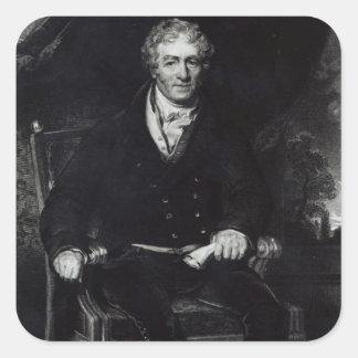 Porträtt av peelen för herr Robert Fyrkantigt Klistermärke