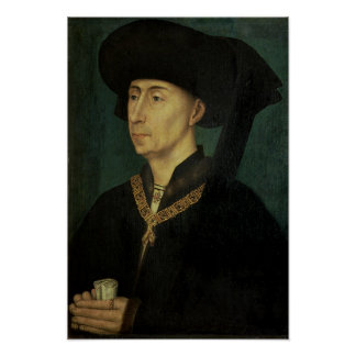 Porträtt av Philip den bra hertigen av Burgundy Poster
