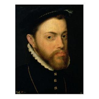 Porträtt av Philip II av Spanien Vykort